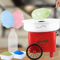 WYCTIN 500W Zuckerwattemaschine Zuckerwattegerät Candymaker Automat mit Wagen Rot 30x30x25cm