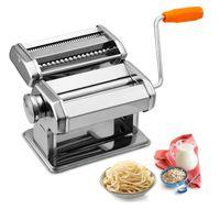 karpal Nudelmaschine Pasta Maker aus Edelstahl, 7 Einstellbare Dicke, Pastamaschine mit 2 Schneiden fuer Spaghetti Lasagne Nudeln