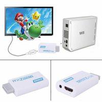 Wii auf zu HDMI Konverter Stick Adapter Audio Video 3.5mm für TV Beamer Monitor