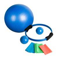 MOVIT® 7-teiliges Yoga-Set, Gymnastikball, Pilates-Ring