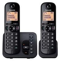 Panasonic KX-TGC222EB Strahlungsarmes Schnurlostelefon mit Anrufbeantworter, Rufnummernanzeige, Freisprechfunktion, DECT