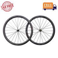 ICAN Carbon Laufräder BD40 Disc Rennrad Laufradsatz 700C Drahtreifen Tubeless Ready Scheibenbremse Centerlock 12x100/12x142mm 1598g