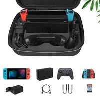 Nintendo Switch Tasche Aufbewahrungsbox Tasche Schutzkoffer Hardcase Schwarz für Nintendo Switch Set Schwarz
