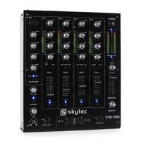 Skytec STM-7010 4-Kanal DJ-Mischpult USB MP3 , 3-Band Equalizer , Mikrofoneingang mit Talkover-Funktion