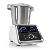 Klarstein GrandPrix - Multifunktions-Küchenmaschine, Rührmaschine, Küchenmaschine mit Kochfunktion, 500-1000 W, 2,5L Edelstahlschüssel, 30-120°C einstellbar, 12 Geschwindigkeiten, silber