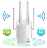 WIFI Repeater WLAN  Router 1200 Mbit/s WI-FI Netzwerk Signal Verstärker Extender mit 4 Antenne