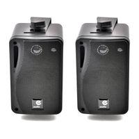B416B - Schwarz passive Lautsprecher Paar 4 OHM 80W