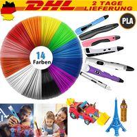 42M Drucker Filament für 3D Stift 3D-Drucker PLA ABS 1.75mm 14 Farben 3D-Pen Starter set DE