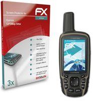 atFoliX FX-ActiFleX 3x Schutzfolie kompatibel mit Garmin GPSMap 64sx Folie