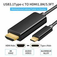 4k HDTV USB-C Zu Auf HDMI Kabel USB 3.1 Adapter Type C Converter Für PC Laptop