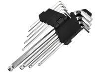 Sechskantschlüssel Set 9 Tools 1.5-10mm Winkel Kugelkopf Klapphalter Metrisch Praktisch 7063