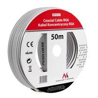 SAT-Antennenkabel 50m Koaxialkabel RG6 1.0CSS SAT Kabel Maclean MCTV-571