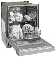 Exquisit Einbaugeschirrspüler EGSP6012-EB-030E inox | teilintegriert | 12 Gedecke | Inox