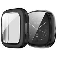 Fitbit Sense,Fitbit Versa 3 Bumper: iMoshion Hardcase + Screenprotector