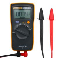 FLUKE F101 Mini-Handmultimeter Tragbares Digitalmultimeter Handvoltmeter 600 V 6000 Zaehlspannungsmesser Universalmessgeraet zur Messung des AC / DC-Spannungswiderstands Kapazitaet Frequenz Diode Durchgangsdauer