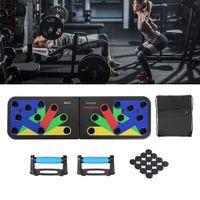 Faltbare Push Up Rack Board mit Handgriff, Push-Up-Bracket Board, Multifunktionales Muskeltraining im Heimtraining mit Tragetasche