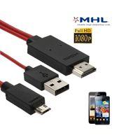 Micro USB zu HDMI Kabel 2m für Samsung Galaxy S2 i9100 S2 HD LTE Plus i9105 i9250 Galaxy Nexus N7000 Galaxy Note / Full HD 1080P HDTV Adapter-Kabel