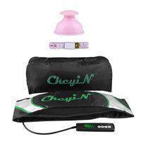 CkeyiN Massagegürtel Elektrisch Vibration Massagegerät Gewichtsverlust 2 Modi Fettverbrennung mit Vakuum-Schröpfen