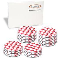 ECENCE Rauchmelder Magnethalter 20 Stück selbstklebende Magnethalterung für Rauchmelder Ø 70mm s