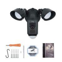 Ring Floodlight Cam Überwachungskamera Flutlichtfunktion WLAN Kompakt Kamera schwarz- neu
