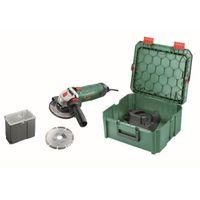 BOSCH PWS 850-125 Winkelschleifer + 2 Zubehör + 1 SystemBox Werkzeugkasten