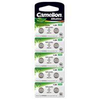 Camelion Knopfzellen, Batterien für Uhren LR63 / AG0 / LR521 / 379 / SR521W 10er Blister