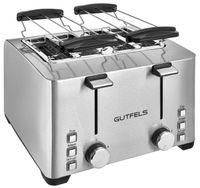 Gutfels TA 8301 isw Toaster | 4-Scheiben Toaster | 6 Bräunungsstufen | Schnellstopp | Schwarz-Inox