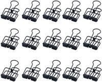 Kreativ Foldback-Klammern schwarz Lange Schwanzklammer, 15 Stück