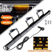 32 LED Auto LKW Rundumleuchte Blinklicht Warnleuchte Blitz Amber 12V 96W 300cm