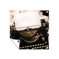 Gartenposter - Schwarze Vintage-Schreibmaschine - 200x200 cm