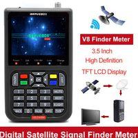 Freesat Satfinder DVB-S2 / S FTA Digitaler Satellitensucher MPEG-2 V8 Finder(Schwarz)