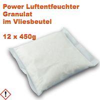 12 x Luftentfeuchter Granulat 450 g Nachfüllpack im Vliesbeutel Raumentfeuchter