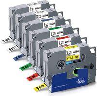 Xemax 6x kompatible Schriftband als Ersatz für Brother P-touch TZ-121 TZ-221 TZ-421 TZ-521 TZ-621 TZ-721 Tape für P-Touch PT-H100LB, PT-H105, PT-E100, PT-D200, PT-D400, PT-1000, PT-1010, PT-1005
