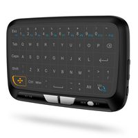 H18 2.4GHz Wireless Keyboard Full Touchpad Fernbedienung Tastatur Maus Mode mit gro?en Touch Pad Vibration Feedback fš¹r Smart TV Android TV Box PC Laptop