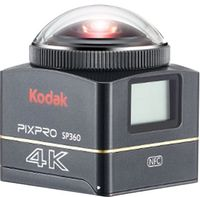 Kodak Pixpro SP360 4K 12,76 Megapixel 4k Ultra High Definition Action-Kamera, 360° Virtual Reality, 2,54 cm (1 Zoll) Display, elektronischer Bildstabilisator, CMOS-Sensor, HDMI, USB, WLAN, Speicherkarte, Smartphone-Steuerung