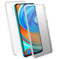 Hülle für Xiaomi Redmi Note 9S/9 Pro/9 Pro Max, Vorder + Rückseite – Transparent