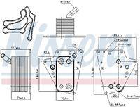 NISSENS Ölkühler Motoröl für SAAB 9-3 YS3F für OPEL ZAFIRA B A05