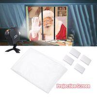 Fenster Filmprojektor Bildschirm Weihnachten Halloween Film faltbare Display Tuch