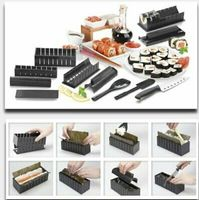 DIY Sushi Maker Easy Chef Set Mould Roller Cutter 10 pcs-