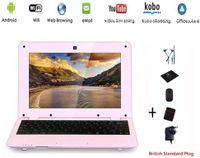Netbook, Laptop, Ultrabook mit Android 5, 10 Zoll Display (23 cm), (HDMI, WLAN, Ethernet, 1,5 GHz, 1GB + 8 GB), mit Kopfhörern rosa