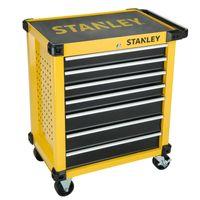 STANLEY STMT1-74306 Werkstattwagen mit 7 Schubladen - verschließbarer Werkzeugwagen auf Rollen - Gesamtbelastbarkeit bis 300 kg