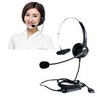 USB Mono Headset Kopfhörer Stereo Air Tube Mic Hörmuschel mit Noise Cancelling Mic
