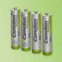 Camelion NH-AA600AR-BP4, 600 mAh, Nickel-Metallhydrid (NiMH), AA, 1,2 V, Weiß, 4 Stück(e)