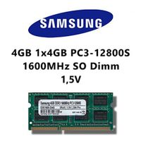 Samsung 4GB (1x 4GB) DDR3 1600MHz (PC3 12800S) SO Dimm Notebook Laptop Arbeitsspeicher RAM Memory