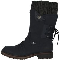 Rieker 94750-14 Schuhe Damen Stiefel Stiefeletten Ankle Boots Warmfutter, Größe:38 EU, Farbe:Blau