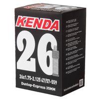 KENDA 26 Zoll Schlauch mit Dunlop Ventil, 2er-Set (511513)