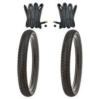 2x Fahrradreifen 16 Zoll Reifen Set 16x1.75 47-305 Kujo inkl. 2x Schlauch AV