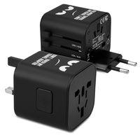 kwmobile Universal Reiseadapter für 150 Länder - Stromadapter Stecker für Europa UK Australien USA - Weltreise Reisestecker - Don't Touch Design