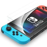 2X Schutzglas Glasfolie für Nintendo Switch Panzerfolie Display Schutz Full 9H