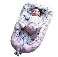 Baby nestchen Kokon Nest Babynest Reisebett Kuschelnest Baumwolle Handarbeit Schwalben
